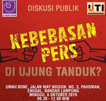 Banyak Jurnalis Alami Kekerasan, AJI-IJTI Lampung Gelar Diskusi Publik