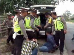Pelaku pencuri spesialis sasaran rumah kosong dibekuk petugas Satlantas Polres Tulangbawang. Foto: Istimewa