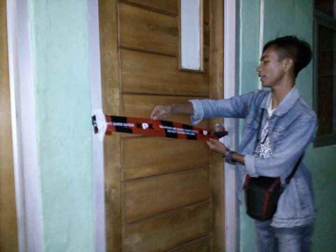 Salah satu ruang kantor Dinas Perdagangan Kabupaten Lampung Utara disegel KPK.