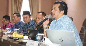 Tim Korsupgah KPK RI Dian Patria saat memberikan arahan kepada jajaran Pemkab Lampung Selatan.