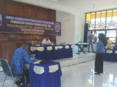 Suasana perlombaan dalam HUT ke-48 Korpri di Pemkab Lampung Utara.