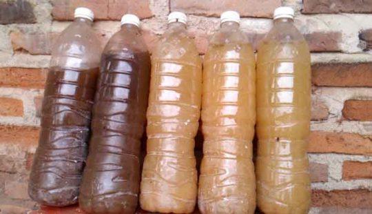 cairan fermentasi penghilang bau limbah yang sudah jadi
