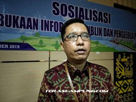 Ketua Komisi Informasi (KI) Lampung Dery Hendryan.