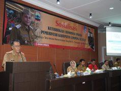 Kepala Dinas Kominfo Pemkab Lampung Selatan M. Sefri Masdian saat menyampaikan laporan kegiatan.