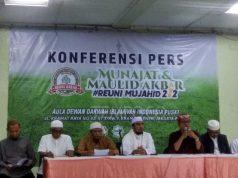 Konferensi pers terkait persiapan Reuni 212 di kantor Dewan Da'wah Islamiyah Indonesia, Jakarta Pusat, pada Jumat, 29 November 2019. Tempo/M Yusuf Manurung
