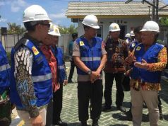 Peresmian pengaliran listrik di Pulau Sebesi