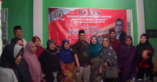 Isi Reses DPRD Lampung, Nurul Ikhwan Bertemu Warga Natar