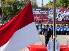 Upacara peringatan Hari Pahlawan di Pemkab Lampung Selatan.