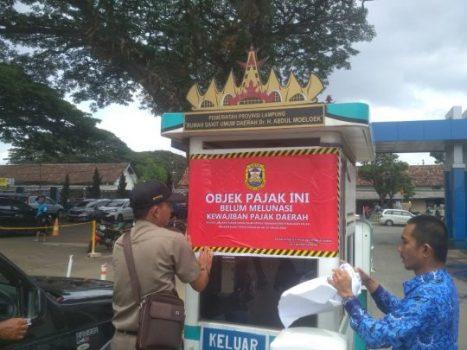 Menunggak Pajak Parkir, BPPRD  Bandarlampung Segel Kotak Parkir RSU Abdoel Moeloek
