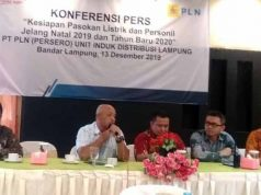 GM PLN Lampung, Pandapotan Manurung, menjelaskan soal kesiapan kelistrikan di Lampung menghadapi perayaan Natal dan Tahun Baru 2019.