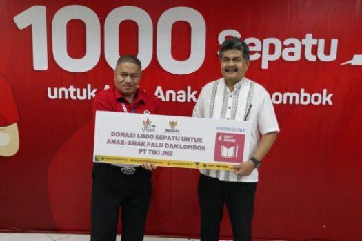 JNE Sumbang 1.000 Pasang Sepatu untuk Anak Korban Bencana Palu dan Lombok