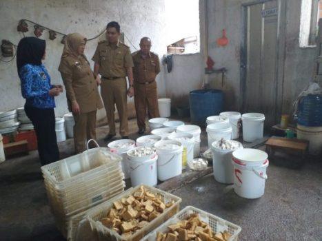 Kadis Perindustrian Lampung Kunjungi IKM Tahu dan Oncom di Gadingrejo
