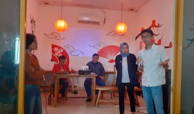 Aliansi Jurnalis Independen (AJI) Bandar Lampung bersama LBH Pers Lampung saat gelar diskusi akhir tahun bertajuk