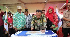 Peresmian program Pansimas dan peluncuran aplikasi sedot WC di Lampung Selatan,