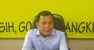 Hipni saat pemaparan visi misi di DPD I Partai Golkar Lampung, Selasa (21/1/2020).
