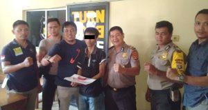 Imam Safe'I (26), pelaku pengedar narkoba yang dibekuk Polsek Terusan Nyunyai Polres Lampung Tengah. (foto Humas Polsek Terusan Nyunyai)