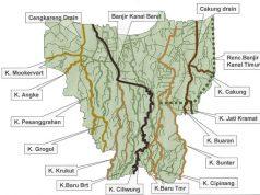 Peta Sungai dan Kanal di DKI Jakarta 2012. Sumber: Wikipedia
