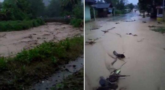 Hujan Deras di Tanggamus: Sedayu Longsor, Waykerap Banjir Bandang