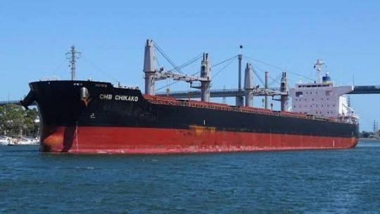 MV CMB Chikako, Kapal Asing Perdana 2020 Sandar di Pelabuhan Panjang