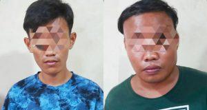 Dua remaja pelaku pencurian, DY (25) dan ES (19), warga Kampung Tempel, Desa Natar, Kecamatan Natar, Lampung Selatan yang diamankan petugas Unit Reskrim Polsek Natar. (Foto: Dok. Polsek Natar)