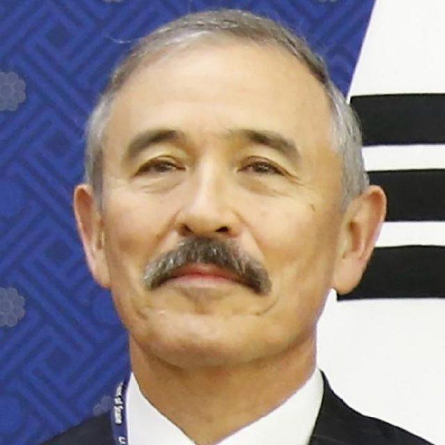 Duta Besar AS Harry Harris berkumis membuat warga Korea Selatan marah dan memprotesnya. [SOUTH CHINA MORNING POST]