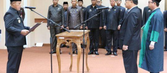 Pj Sekda dan 14 Plt Kepala OPD di Lampung Selatan Dilantik
