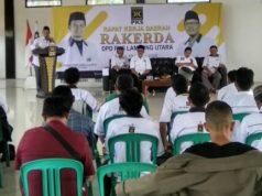 Suasan Rakerda yang dilaksanakan oleh DPD PKS Lampung Utara, Minggu (19/1/2020).