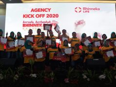 Agency Kick Off 2020 Bhinneka Life di Bukit Randu Hotel, Bandarlampung (17/01).