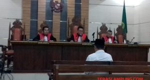 Candra Safari menjadi saksi kasus fee proyek dengan tersangka mantan Kadis PUPR Lampung Utara Syahbudin pada sidang di sidang tipikot di PN Tanjungkarang, Senin (27/1/2020).