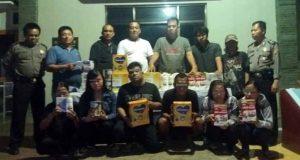 Enak kawanan pencuri di mal di Pringsewu dan Bandarlampung diamankan petugas Polsek Kedaton, Bandarlampung, Minggu (19/1/2020).