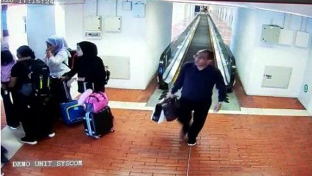 Pria diduga Harun Masiku, tersangka suap mantan Komisioner KPU Wahyu Setiawan terekam oleh CCTV di selasar Bandara Soekarno-Hatta, Tangerang, Banten, 7 Januari 2020. Pria yang diduga Harun Masiku terlihat pada pukul 17.15 WIB. Istimewa