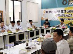 Tony Eka Candra mengikuti pendalaman visi misi di Kantor DPW PKS Lampung, Rabu petang (22/1/2020).