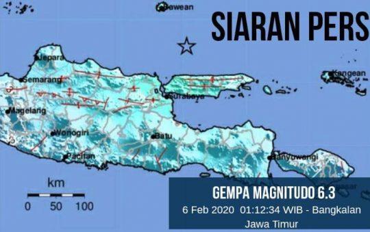 Gempa Bumi di Bangkalan, Ini Update Data Terbaru BMKG
