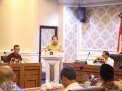 Arinal Djunaidi berbicara pada acara pertemuan dengan anggota DPD RI, Selasa (11/2/2020).