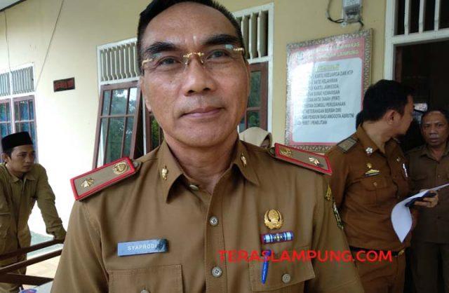 Asisten Bidang Administrasi Umum Pemkot Bandarlampung, Syaprodi usai memimpin rapat pemantapan MTQ ke 51.