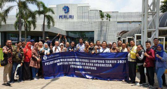 Puluhan Wartawan Lampung Belajar ke Kantor Perum Peruri