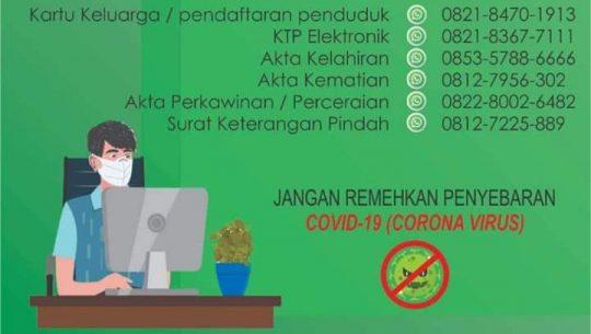 Nomor para petugas Disadmindukcapil Lampura yang dapat dihubungi oleh warga yang membutuhkan dokumen kependudukan dan catatan sipil