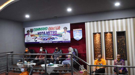 Walikota Metro Ikuti Rakor Implementasi PSBB di Daerah Via Teleconference