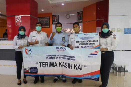 PT KAI Tanjungkarang Salurkan Dana CSR Sebesar Rp76 Juta