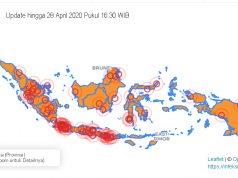 Peta Zona Merah Covid-19 di Indonesia. Sumber: Kementerian Kesehatan RI
