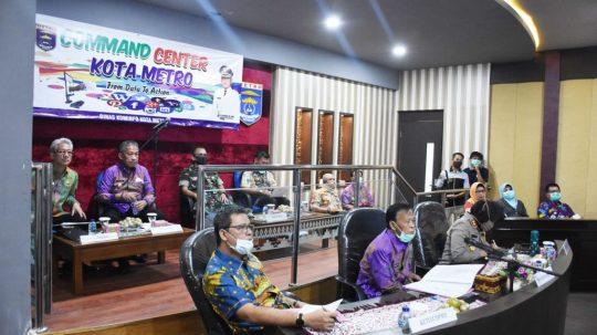 Antisipasi Covid-19, Gubernur Bersama Bupati – Walikota Se-Lampung Lakukan Teleconference