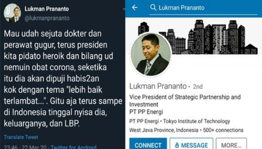 Mantan Pejabat BUMN Ini Membully Jokowi dan Serang Pejabat