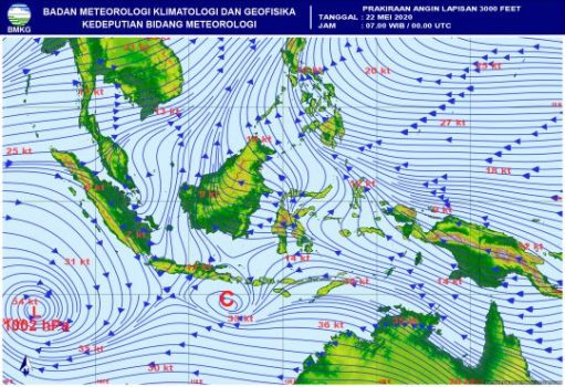 Siklon Tropis: Angin Kencang – Gelombang Tinggi Bisa Terjadi di Lampung, Jakarta, Banten, Sumsel, dan Bengkulu