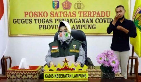 Juru Bicara Gugus Tugas Penanganan Covid-19 Lampung, dr. Reihana