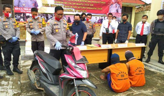 Pedagang Somay Perampas Sepeda Motor dan Pembunuh Pelajar di Lamsel Ditangkap di OKU