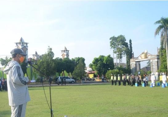 Plt Bupati Lampung Utara Pimpin Apel Siaga Gugus Tugas Covid-19