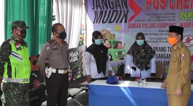 Budi Utomo Tinjau 'Check Point' dan Pos Pengamanan di Lampung Utara