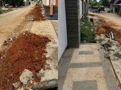 Bekas lubang galian PDAM Way Rilau di Jalan M. Nur II Sepang Jaya, Kecamatan Labuhan Ratu, Bandarlampung. Foto: Darwin Ruslinur