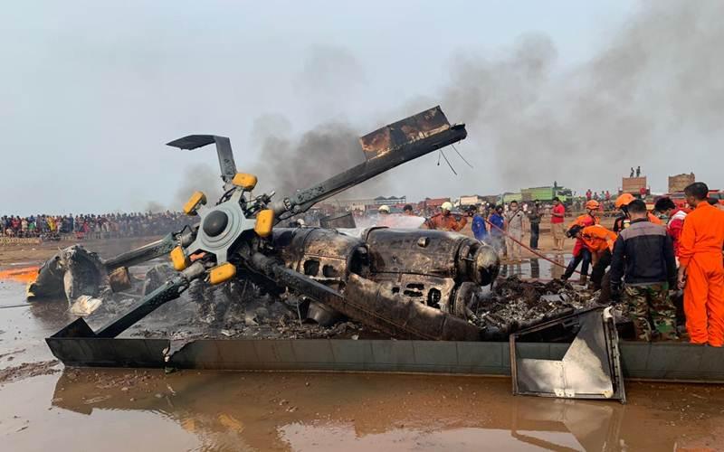 Helikopter Jatuh dan Meledak di Kendal, Empat Orang Tewas, Ini Kronologinya