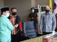 Walikota Bandarlampung Herman HN menerima opini WTP dari BPK Perwakilan Lampung.
